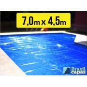 Capa Termica Bolha  7,00M X 4,500M - Brasil Capas ( 500 Micras )