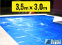 Capa Termica Bolha  3,50 X 3,00M - Brasil Capas (300 Micras)