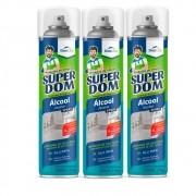 Kit 3 Álcool 70% 66,6 INPM Spray Super DomLine 400ml