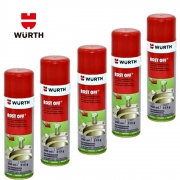 Kit 5 Rost Off Desengripante e Lubrificante Wurth - 300 ML