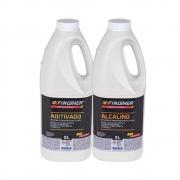 Kit Aditivado E Alcalino Detergente Desincrustante Finisher 2 Litros