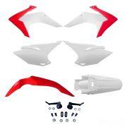 Kit de Plásticos Honda CRF 230 15-18 Avtec - Branco-Vermelho