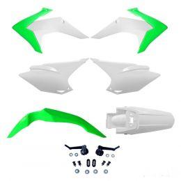 Kit de Plásticos Honda CRF 230 15-18 Avtec - Verde/Branco