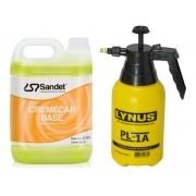 Kit Limpeza 01 Shampoo Creme Car 5l + Pulverizador Manual