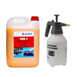 Kit Shampoo Automotivo Com Cera SHW2 5L + Pulverizador 1,5L Wurth
