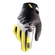 Luva 100% Ridefit Preta/Amarela
