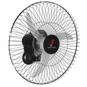 Ventilador Parede Oscilante Venti Delta Ventura 60 cm 60 Fios Preto - Bivolt