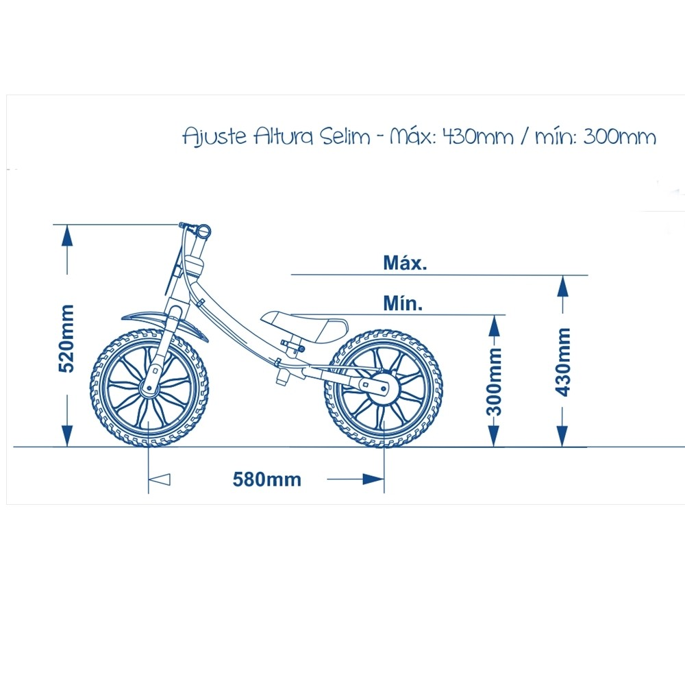 Bicicleta Infantil Balance Bike 02 - Nathor