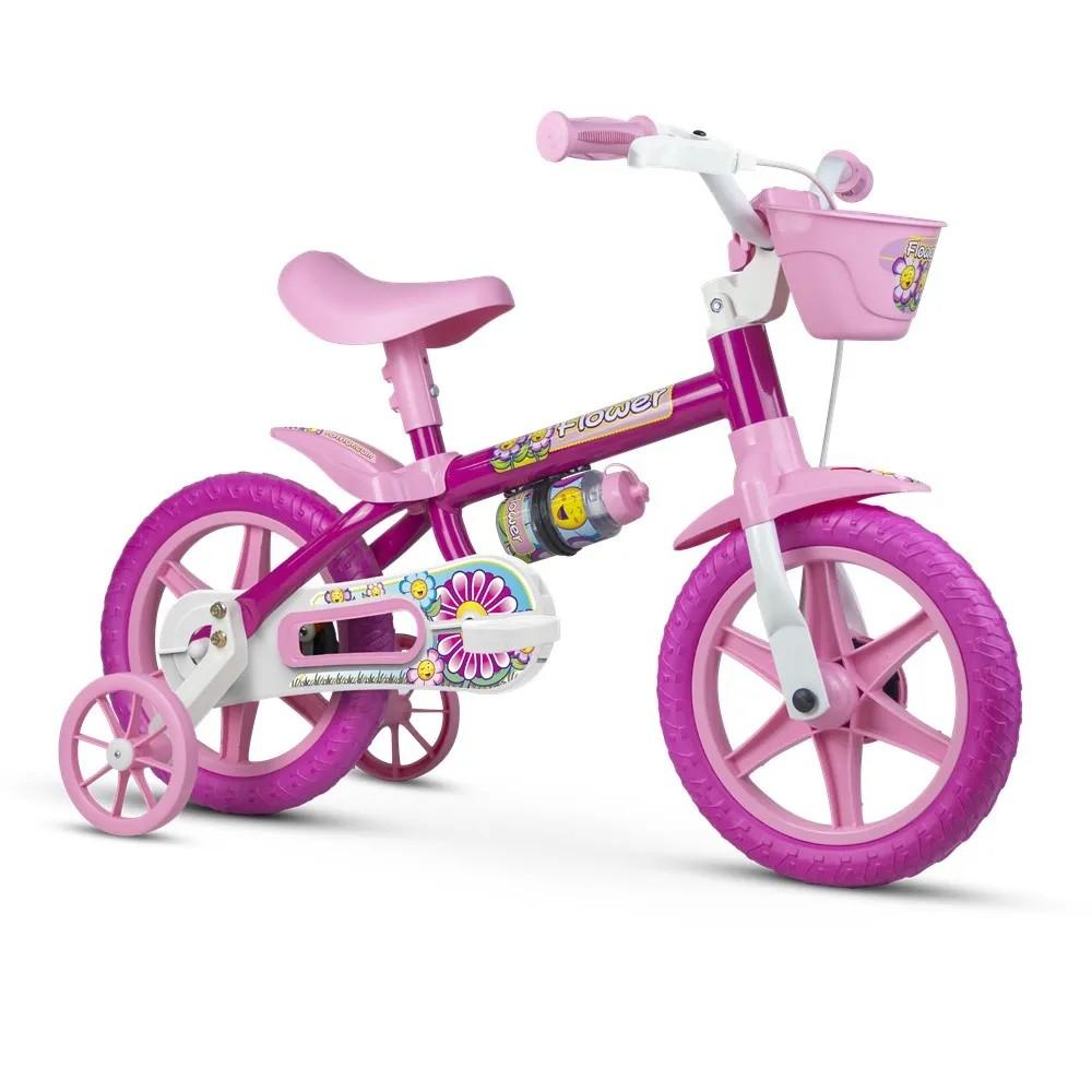 Bicicleta Infantil Nathor Aro 12 - Flower 11