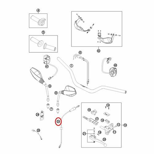Cabo da Embreagem Hidraulica KTM 690 07-12 - 75032063000