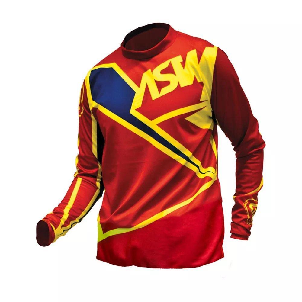 Camisa ASW Factory 17 - Vermelha/Flúor