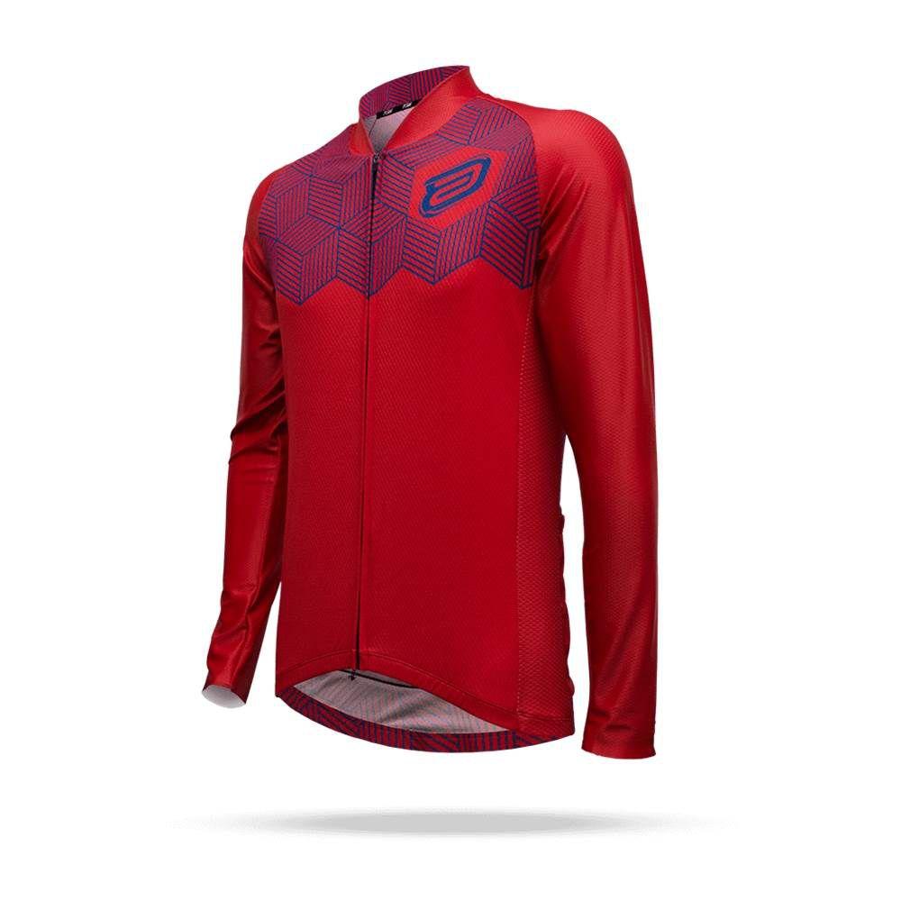 Camisa Ciclismo ASW Active Cube ML 18 Vermelha