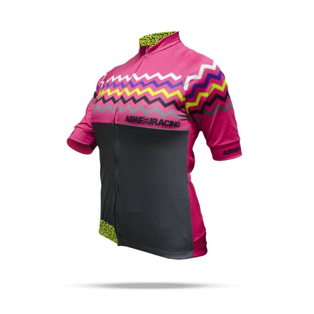 Camisa Ciclismo ASW Fun Party Feminina 18 Pink