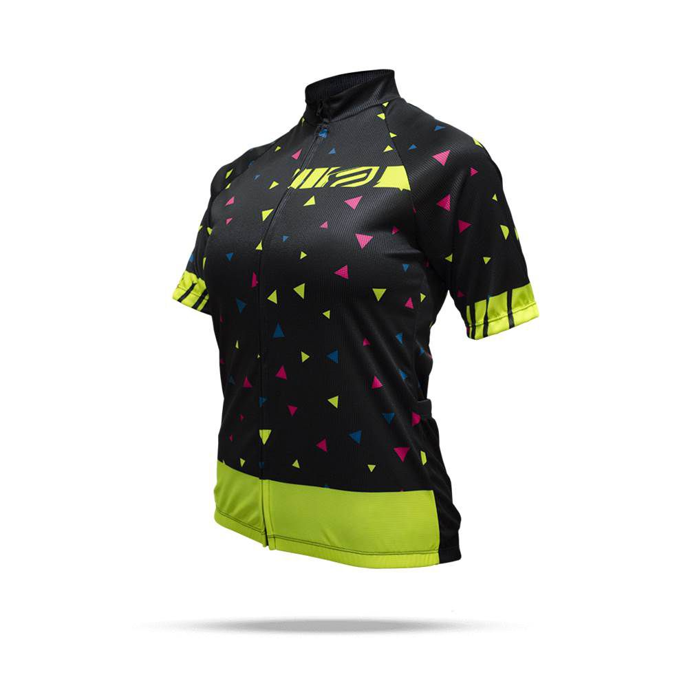 Camisa Ciclismo ASW Fun Space Feminina 18 Preta