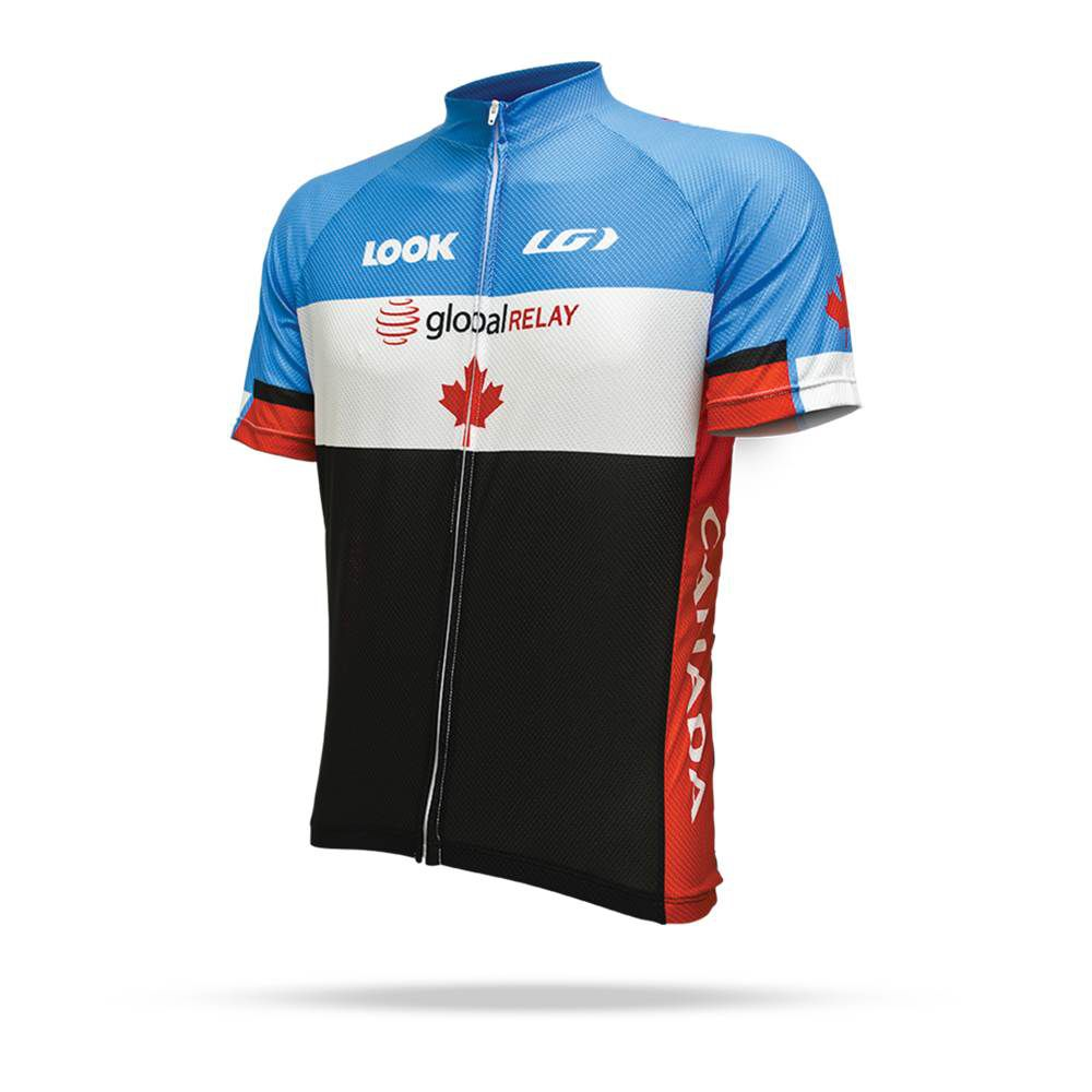 Camisa Ciclismo Louis Garneau LG Equipe Pró Réplica Canadá Masculina