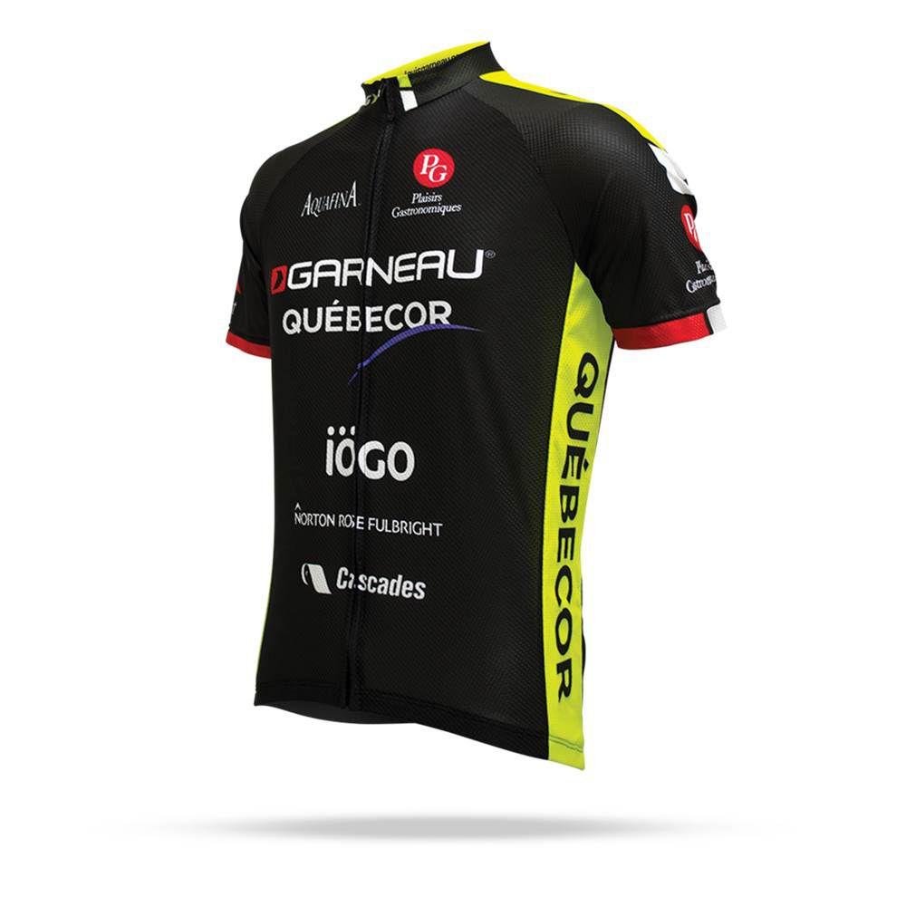 Camisa Ciclismo Louis Garneau LG Equipe Pró Réplica Quebecor Masculina