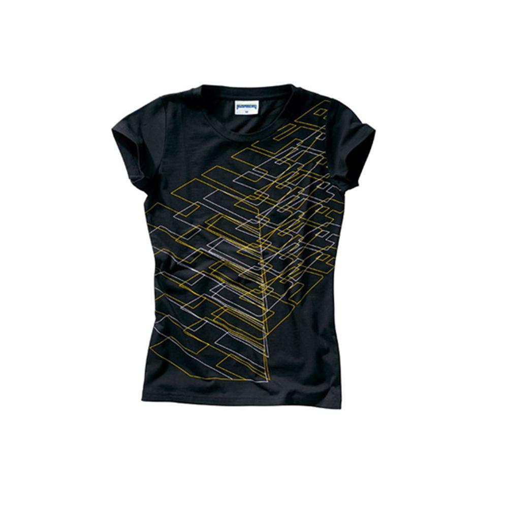 Camiseta Husaberg Allover Feminina Preta