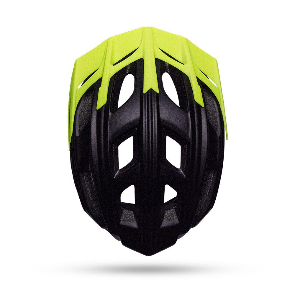 Capacete Bike ASW Rocky 18 - Amarelo Flúor