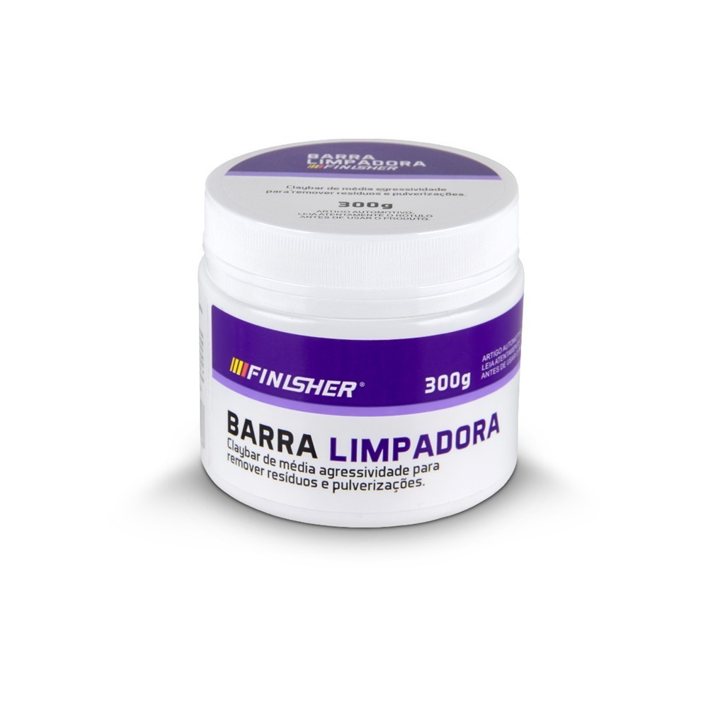 Clay Bar Barra Limpadora Média Finisher 300g
