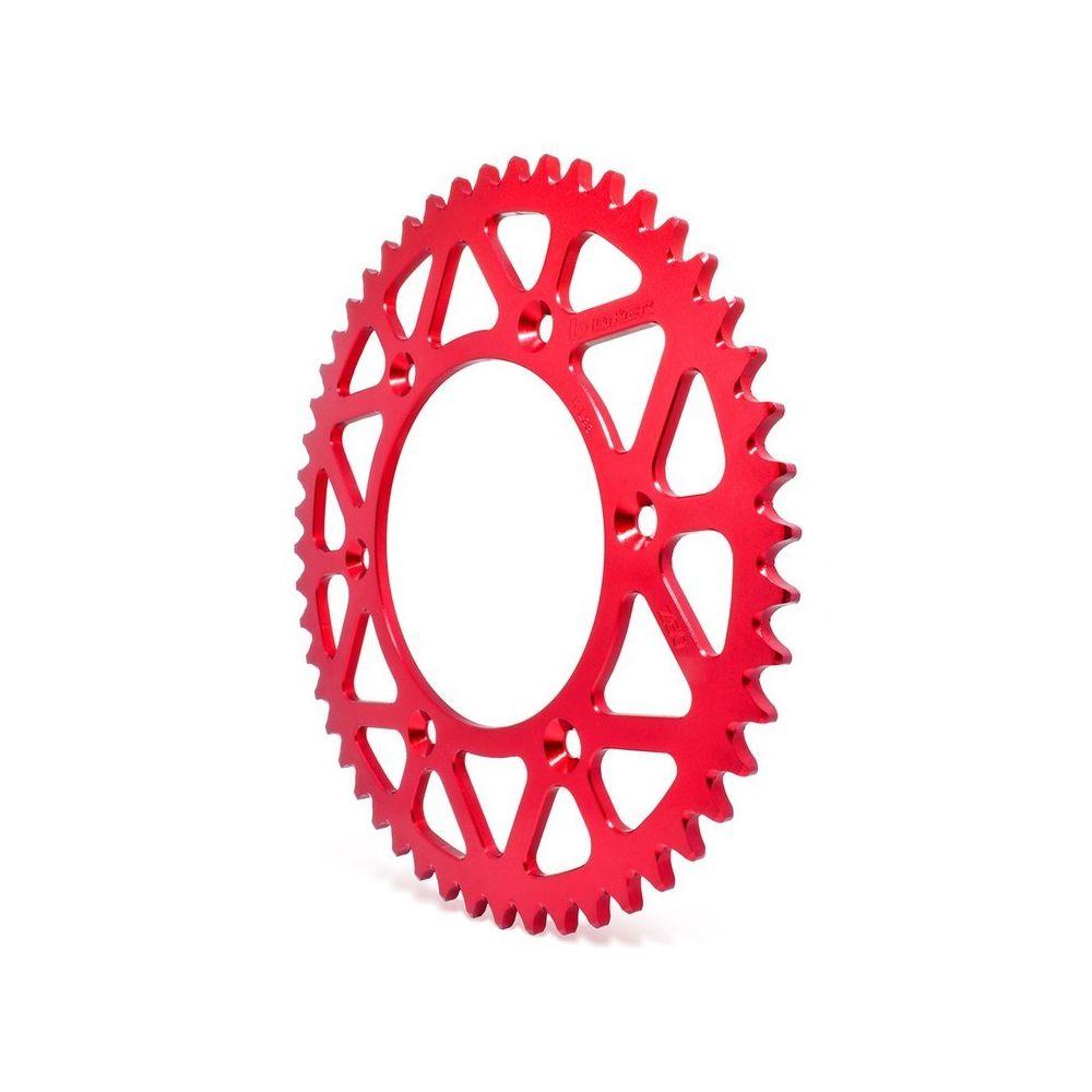 Coroa Aço 1045 CRF230/ CRFX-R/  XR400 Biker Vermelha