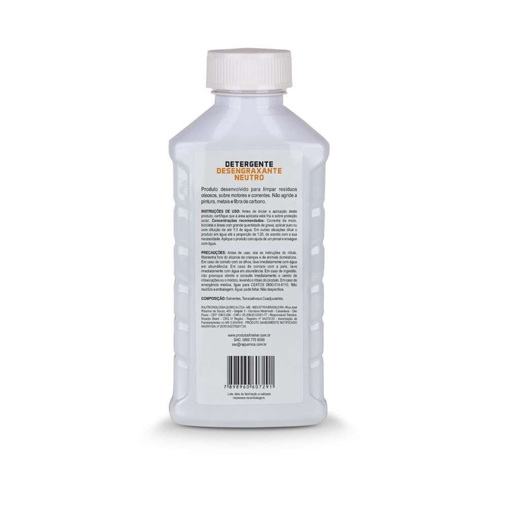 Detergente Desengraxante Neutro Finisher 500ml