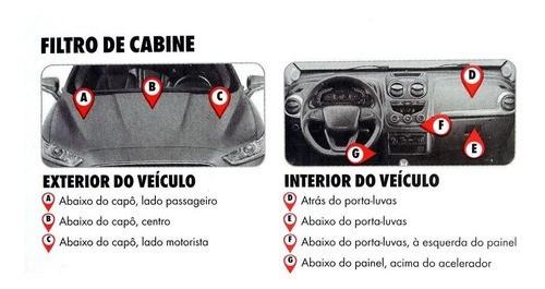 Filtro Ar Condicionado Azera 2007 a 2010 e Santa Fé 2006 a 2010