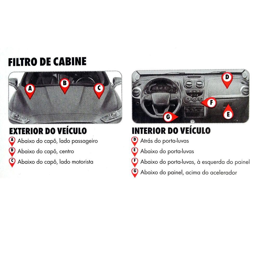 Filtro Ar Condicionado Cabine Ford Fusion 2013 Acima - Wurth