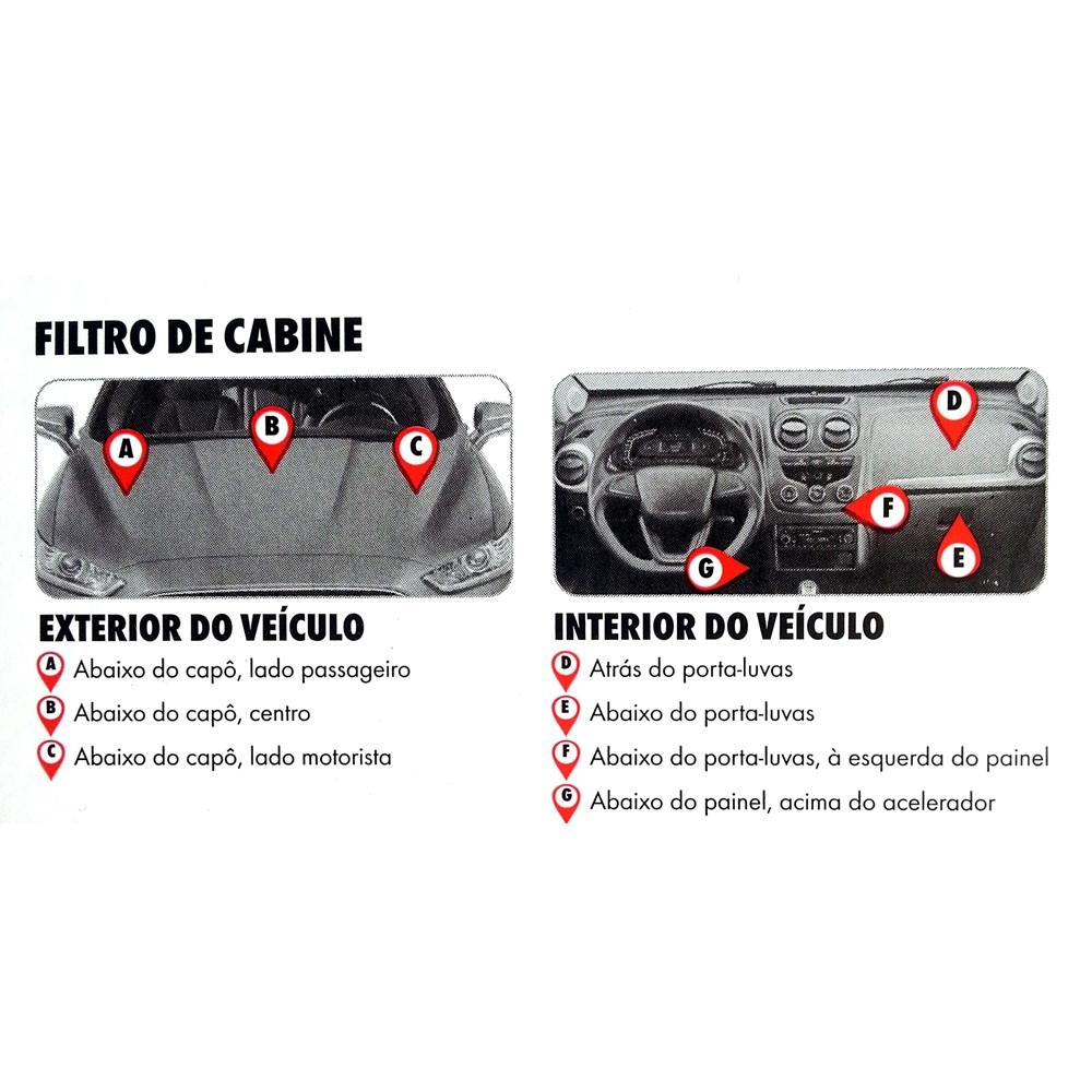 Filtro Ar Condicionado Cabine VW Gol / Parati / Saveiro (98-08) GIII/IV