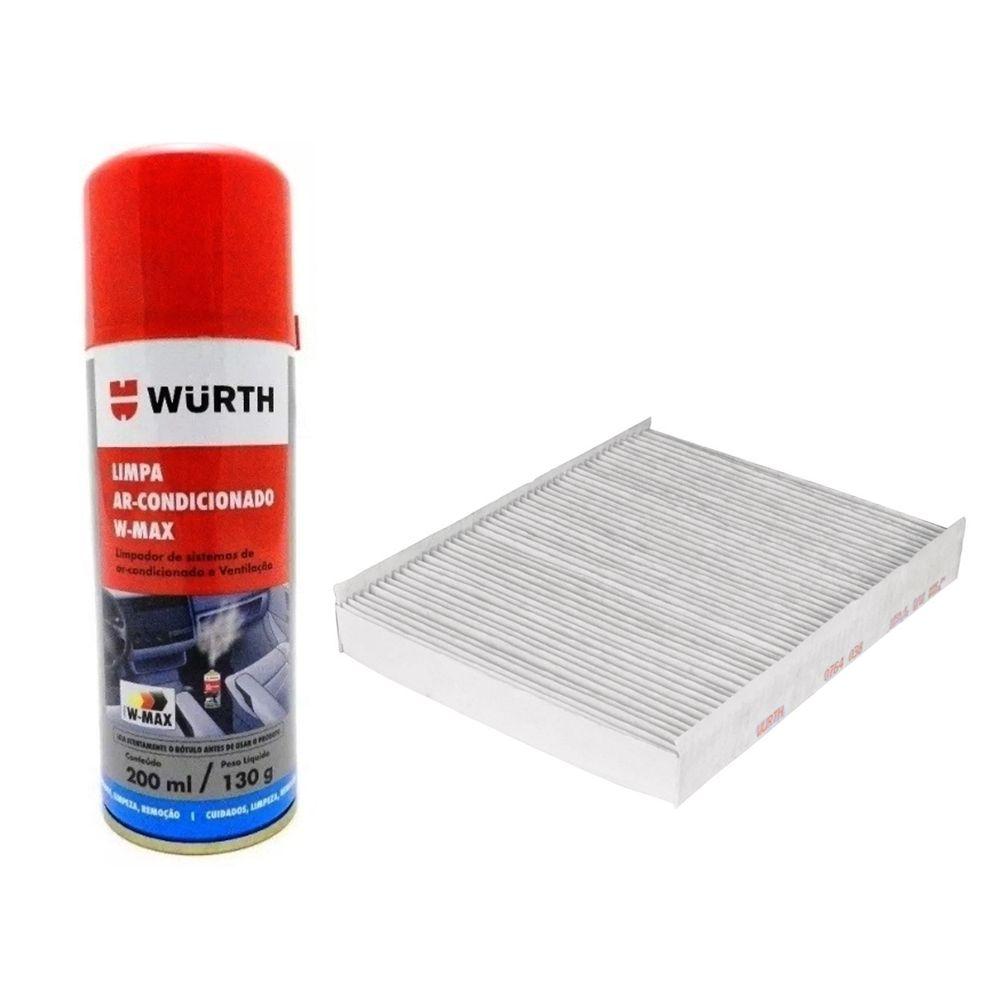 Filtro Ar Condicionado VW UP (14>) + Limpa Ar Wurth