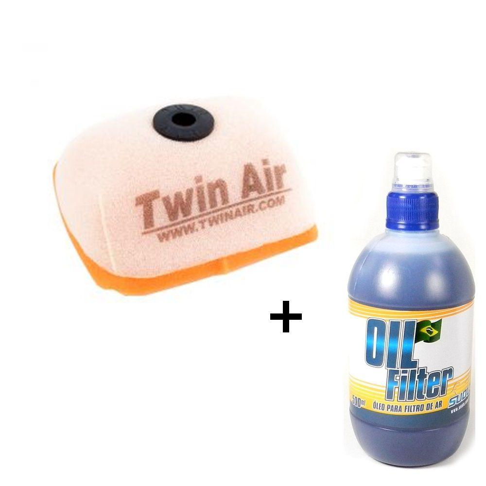 Filtro de Ar CRF 230F 03/18 Twin Air + Óleo Filtro de Ar Suolo 500ml