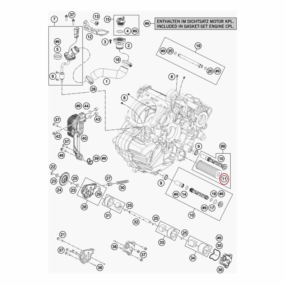 Filtro de Óleo KTM Adventure 950-1290 03-16 - 61338015100