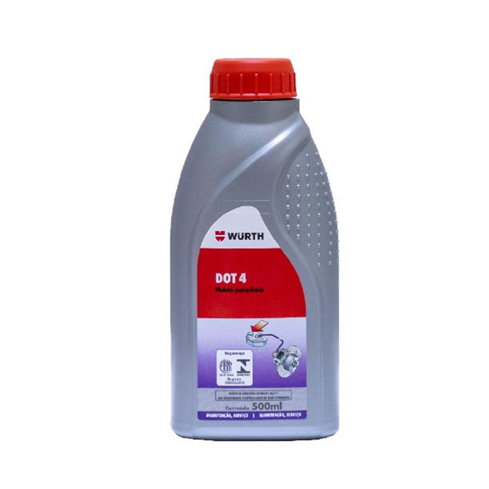Fluido de Freio Dot 4 Wurth - 500 ml