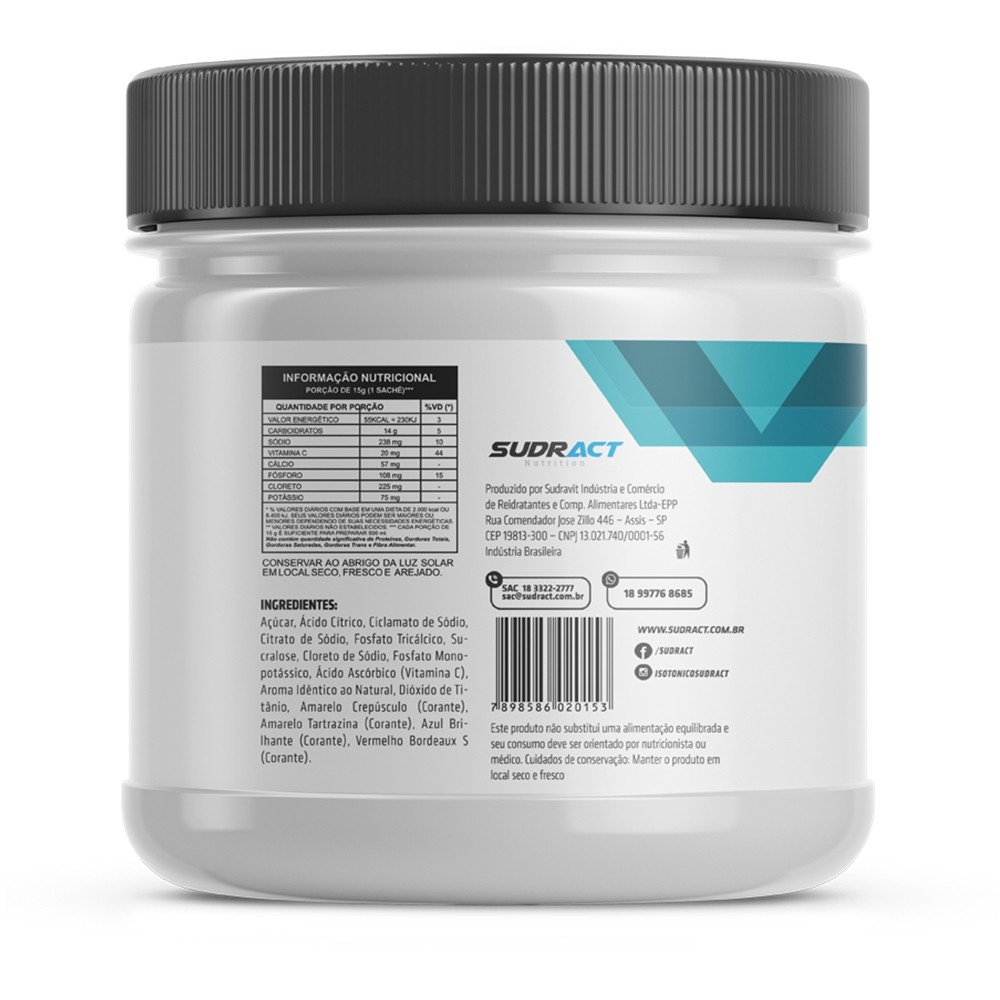 Isotônico Isotonic Sudract Pote 450g - 30 doses