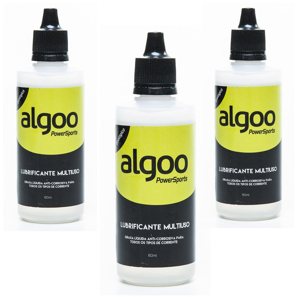Kit 03 Lubrificante Algoo Multiuso - 60 ml