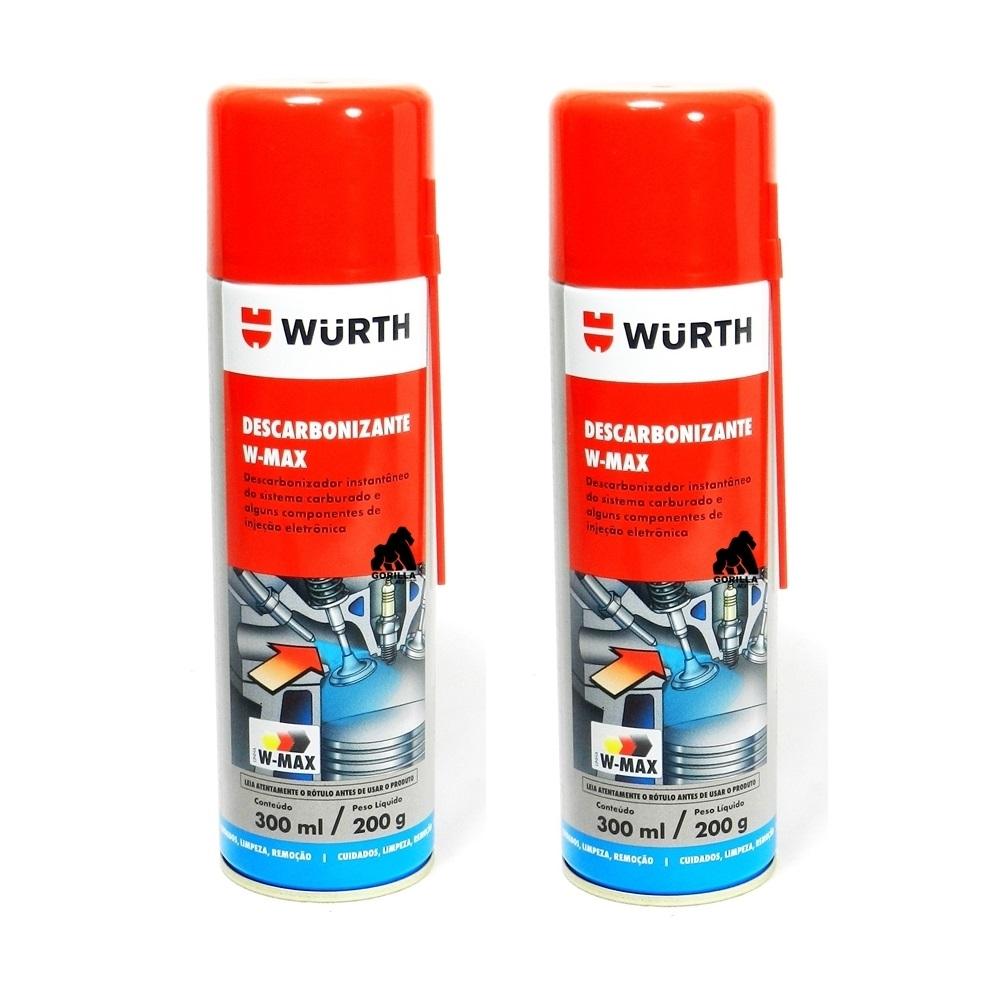 Kit 2 Descarbonizante Limpa TBI e Carburador W-Max 300ml - Wurth