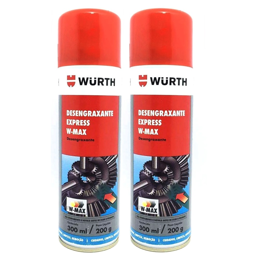 Kit 2 Desengraxante Express Spray W-Max Wurth 300ml