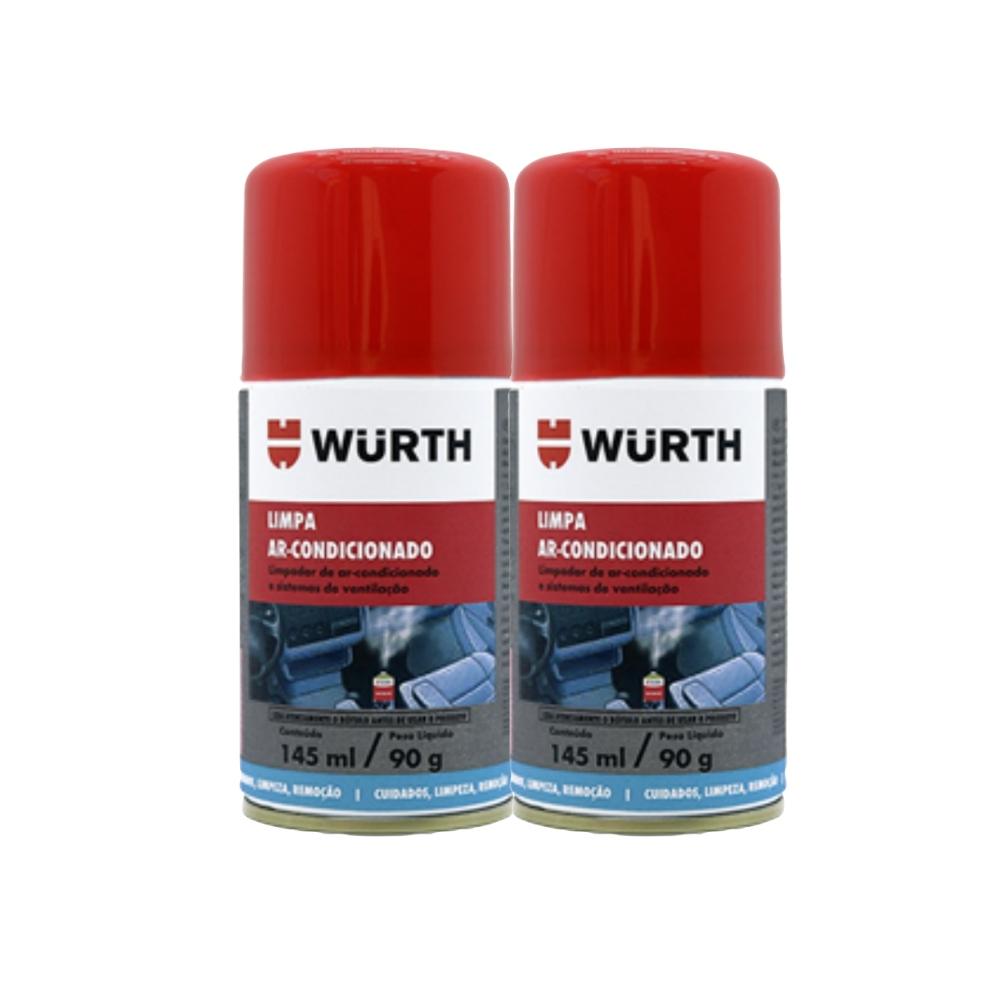 Kit 2 Higienizador Limpa Ar Condicionado Carro Novo Wurth 145ml