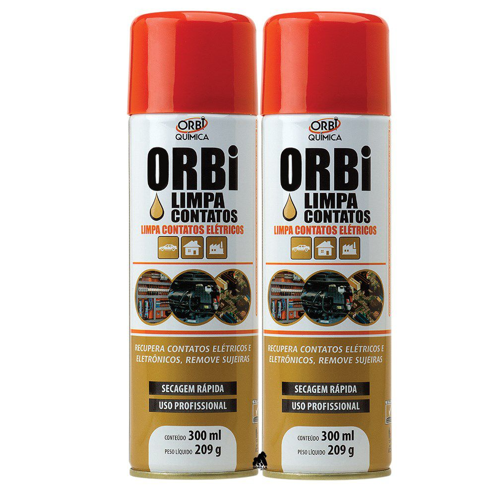 Kit 2 Limpa Contatos Orbi Spray - 300ml