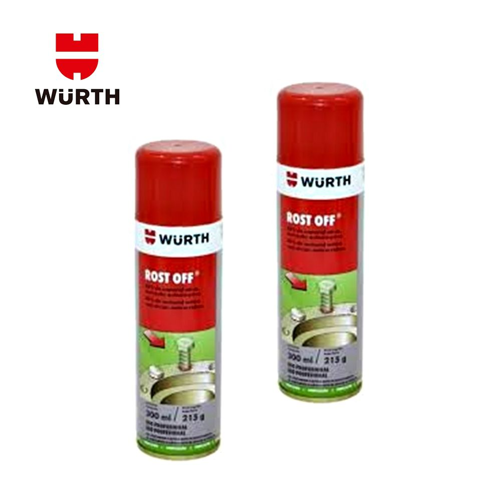 Kit 2 Rost Off Desengripante e Lubrificante Wurth - 300 ML