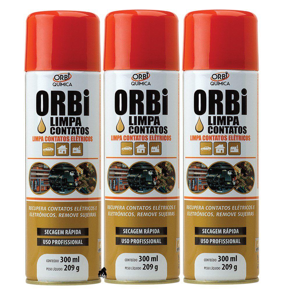 Kit 3 Limpa Contatos Orbi Spray - 300ml