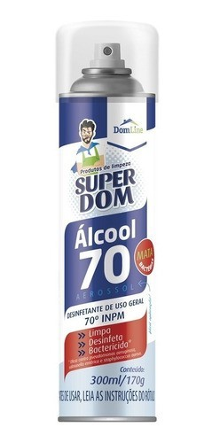 Kit 6 Alcool 70% Super Dom Spray 300ml