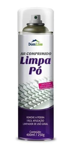 Kit 6 Ar Comprimido Limpa Pó DomLine Spray 400ml