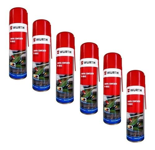 Kit 6 Limpa Contato W-Max Spray Wurth - 300ml