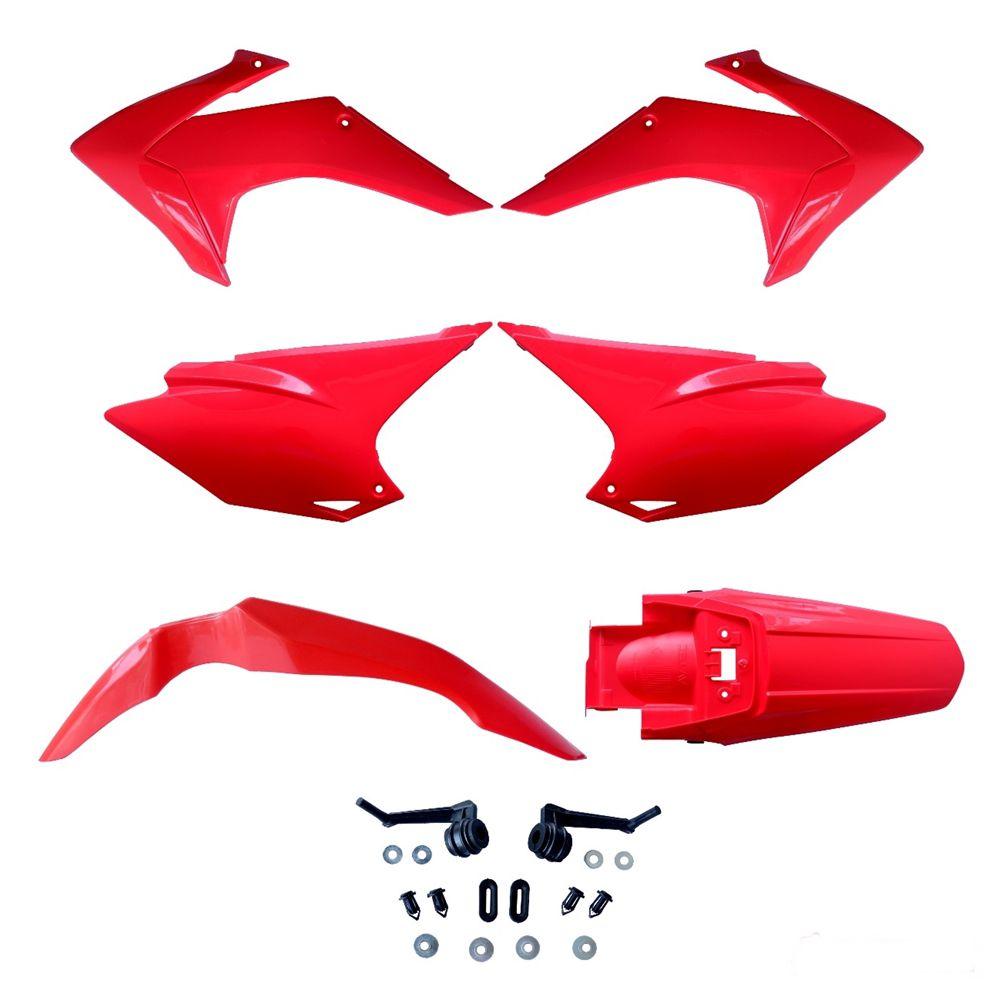 Kit de Plásticos Honda CRF 230 15-18 Avtec - Vermelho