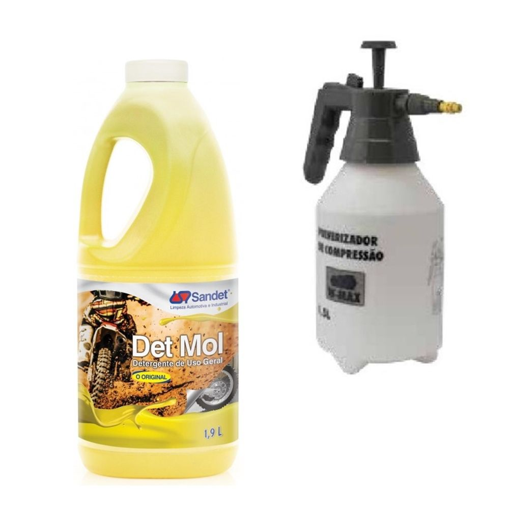 Kit Limpeza Pró - 01 Shampoo Det Mol 1,9l + Pulverizador 1,5 lt Wurth