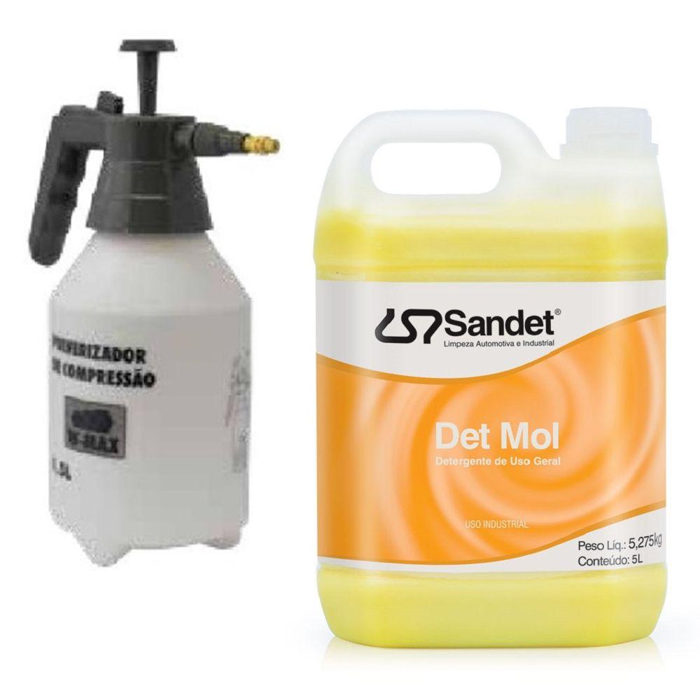 Kit Limpeza Pró - 01 Shampoo Det Mol 5l + Pulverizador 1,5 lt Wurth