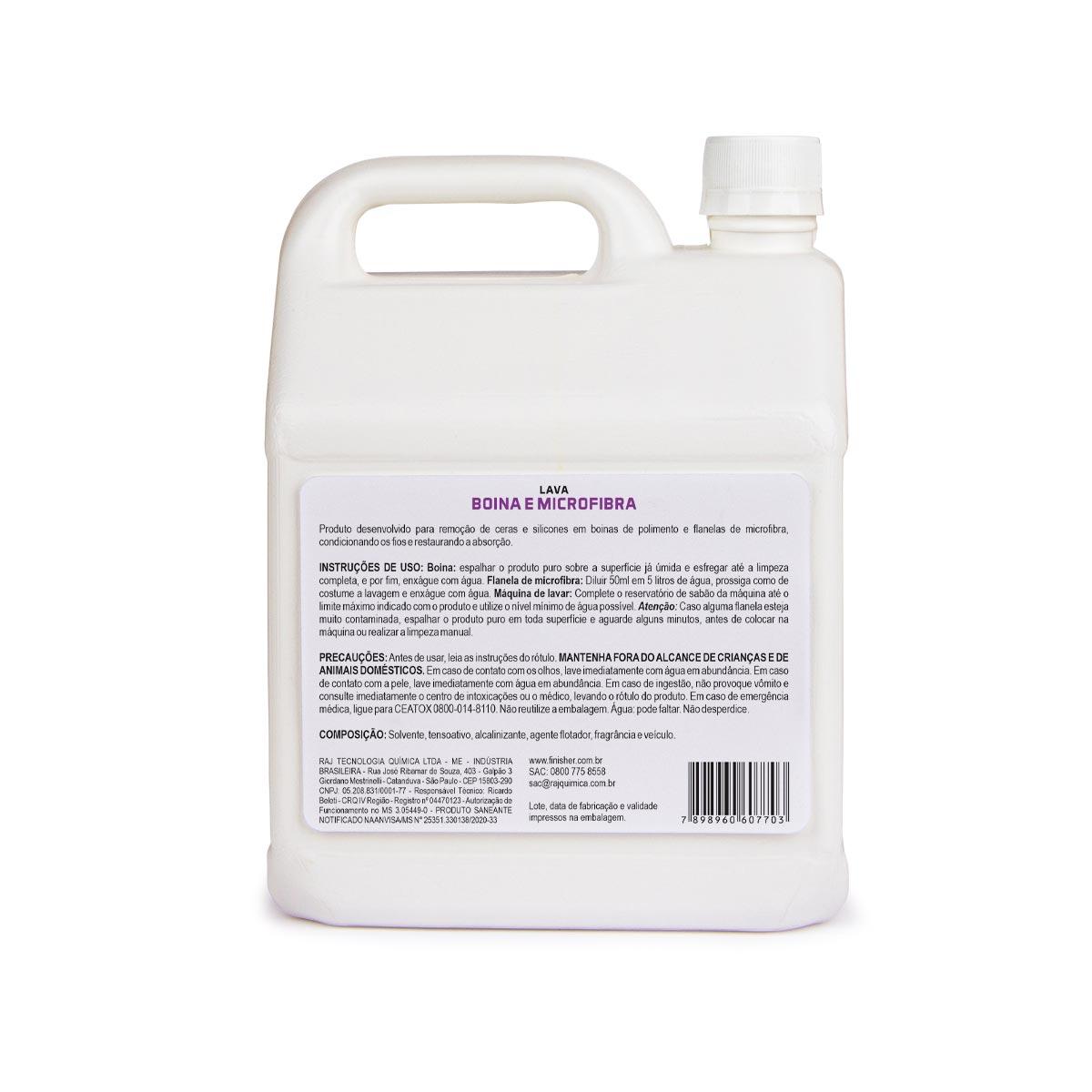 Lava Boinas e Microfibra Finisher 2,5 Litros