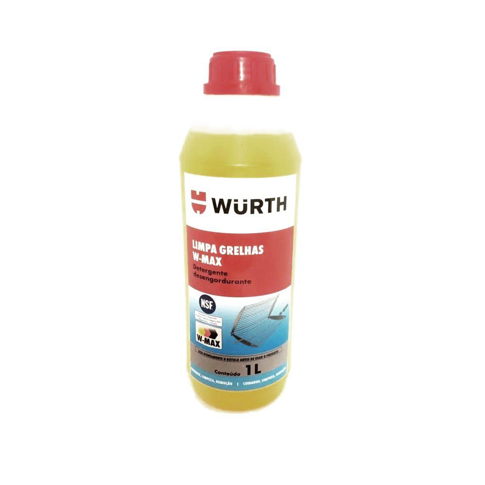 Limpa Grelha Detergente Desengordurante W-MAX Wurth 1 Litro
