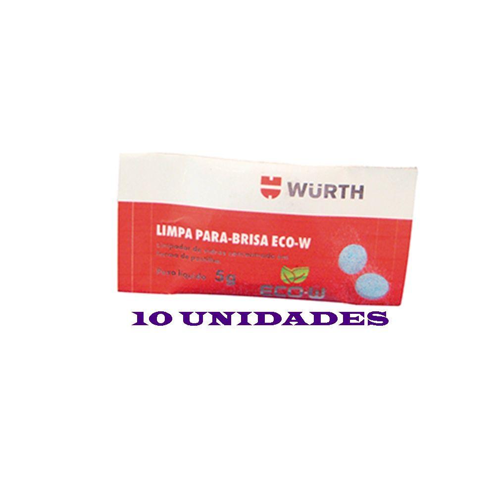 Limpa Para-brisa Eco-W Em Pastilhas Wurth - 5g (10 Unidades)
