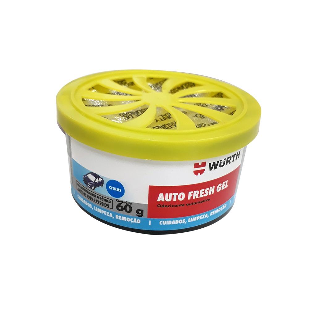 Odorizante Automotivo Gel Wurth Auto Fresh Cheirinho Citrus - 60g
